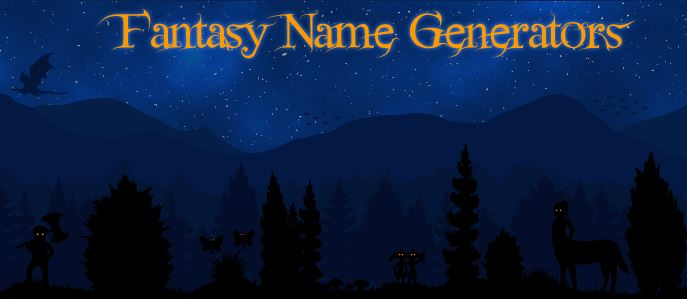 Fantasy Name Generators