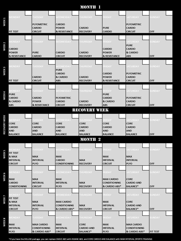 Insanity Workout Calendar 960 Web