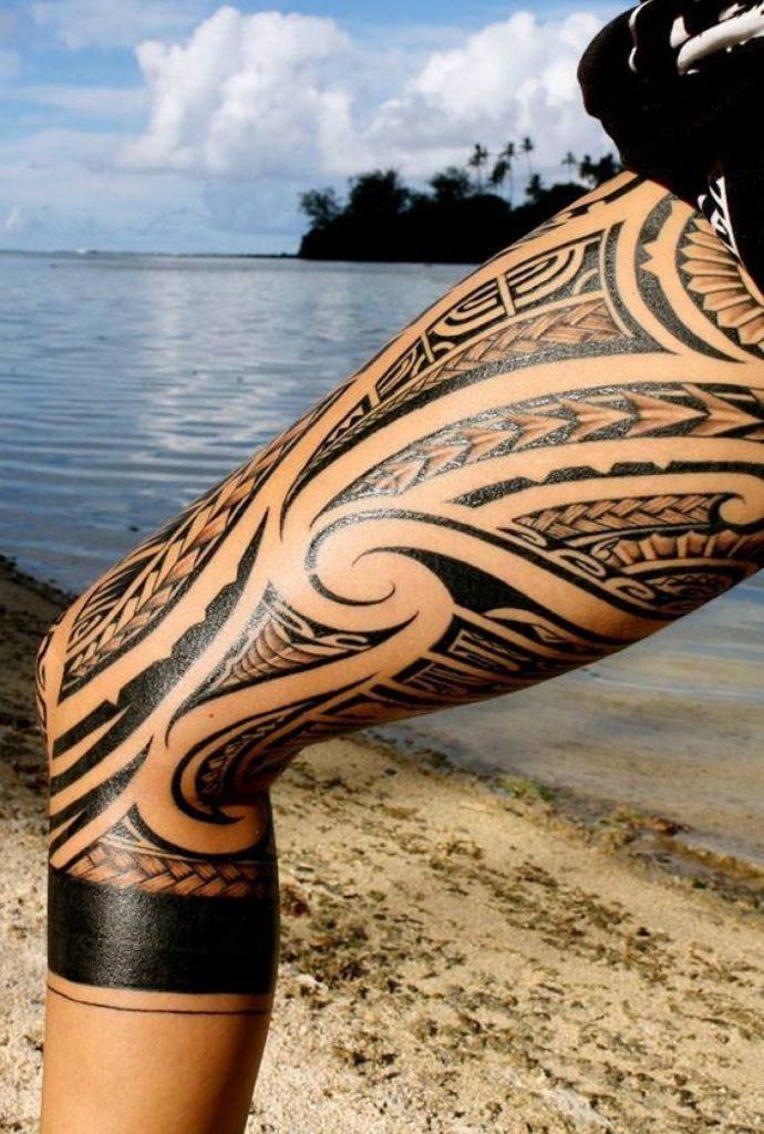 Maori Tattoo Jambe