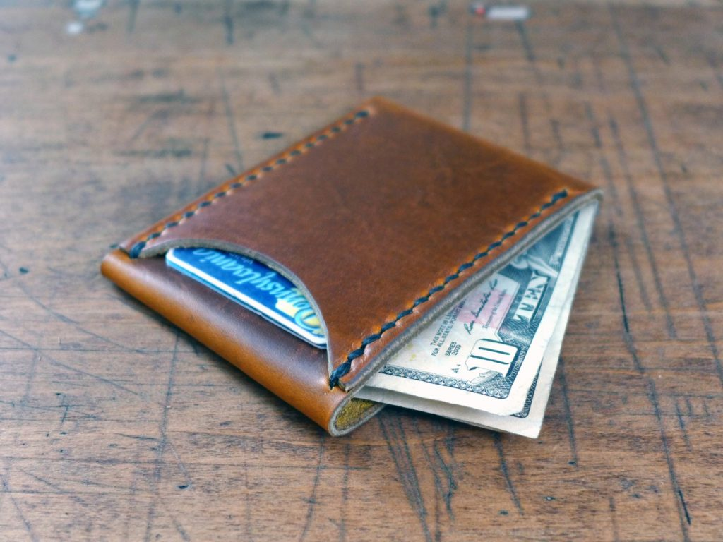 Sawbuck Leather Minimalist Wallet