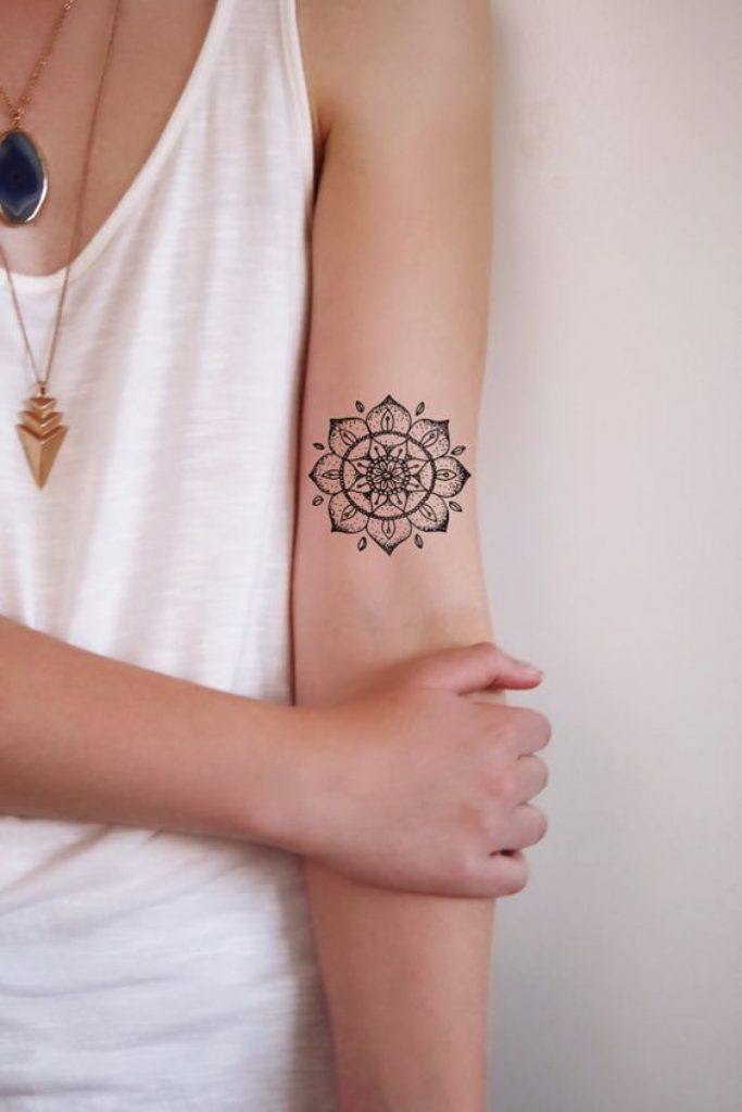Tattoo Mandala Discreet On The Arms
