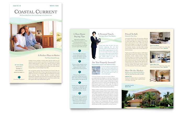 Coastal Real Estate Newsletter Template