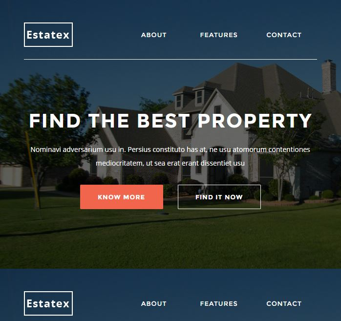 EstateX Real Estate Property Responsive Email StampReady Builder