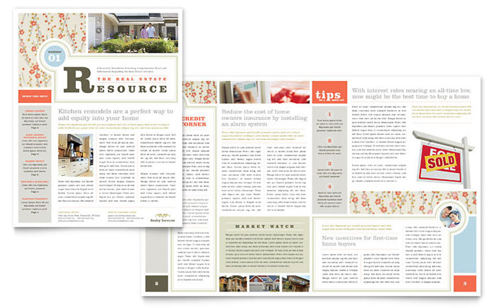 Real Estate Newsletter Templates  Printable Newsletters For Real