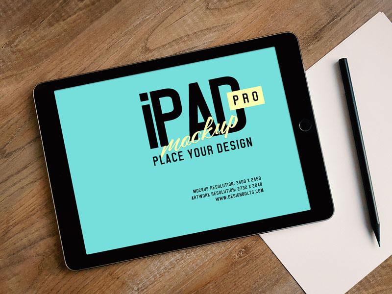 Free Apple IPad Pro Photo Mockup PSD