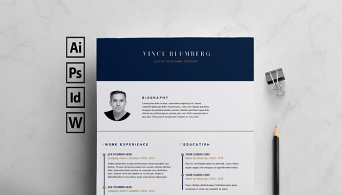 Free Indesign Resume Templates  Resume In Indesign