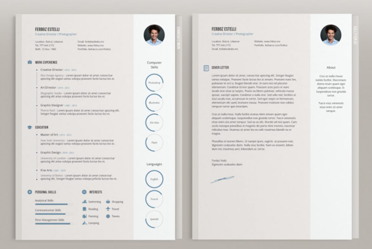 25 Best Free Indesign Resume Templates Updated 2018