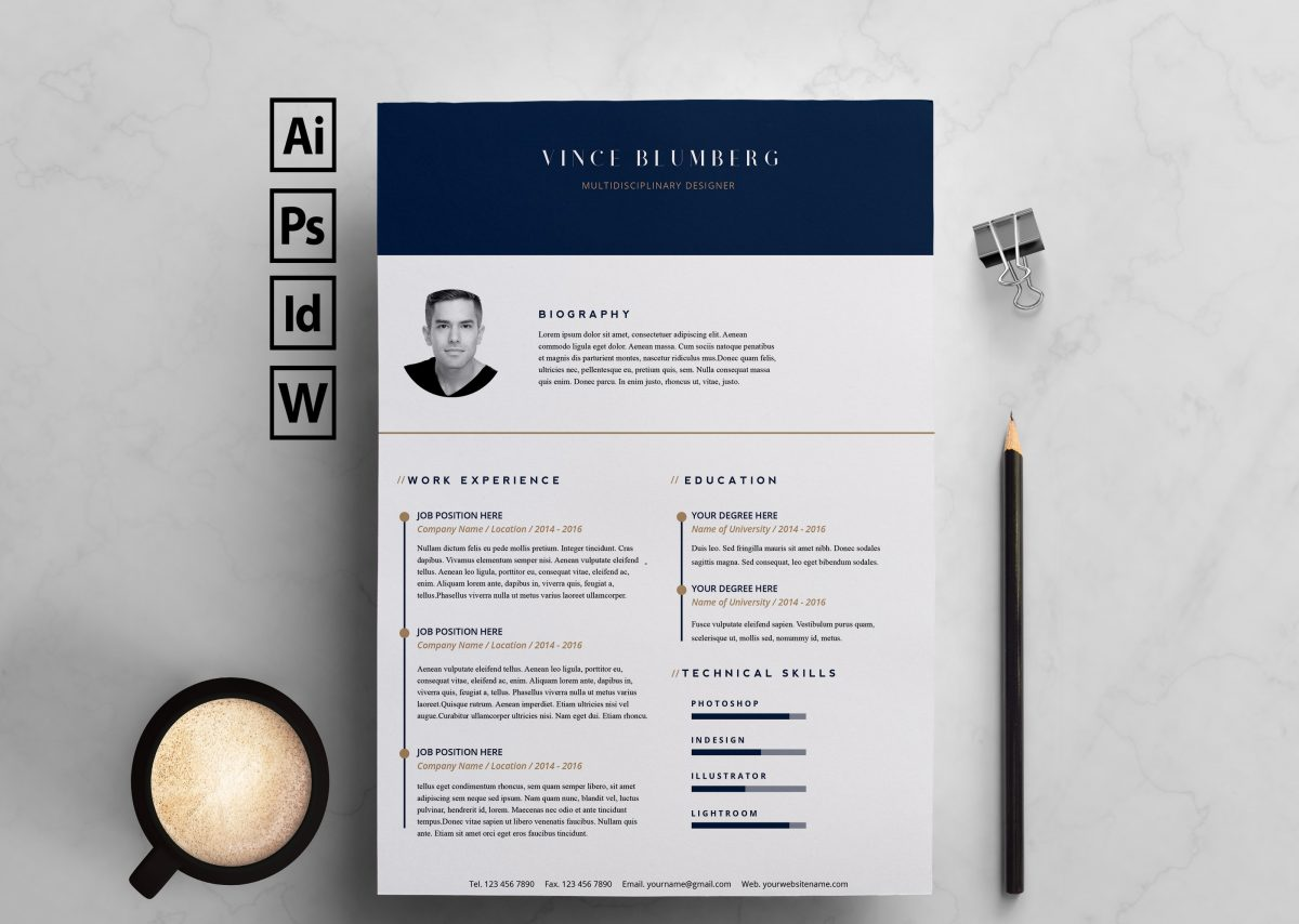 indesign resume template 21