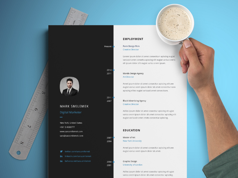 indesign resume template 23