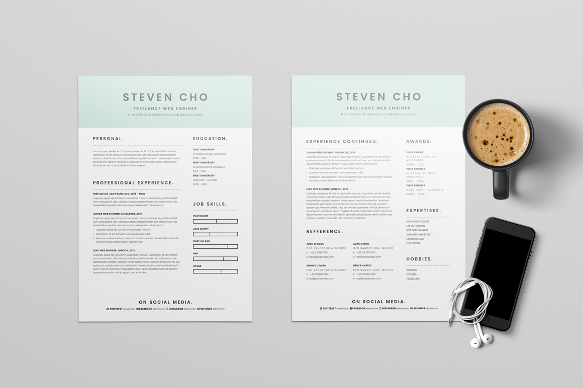 Superbe Indesign Resume Templates 12