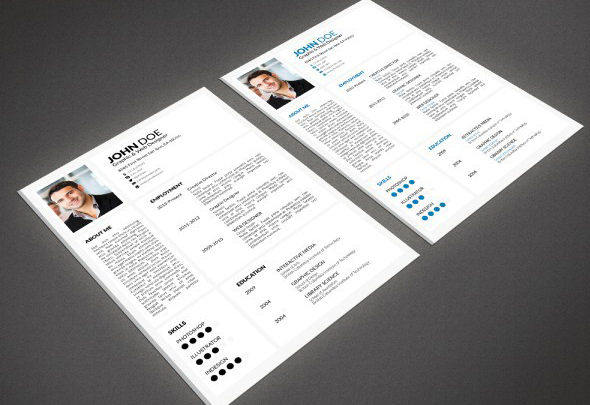 indesign resume templates 14