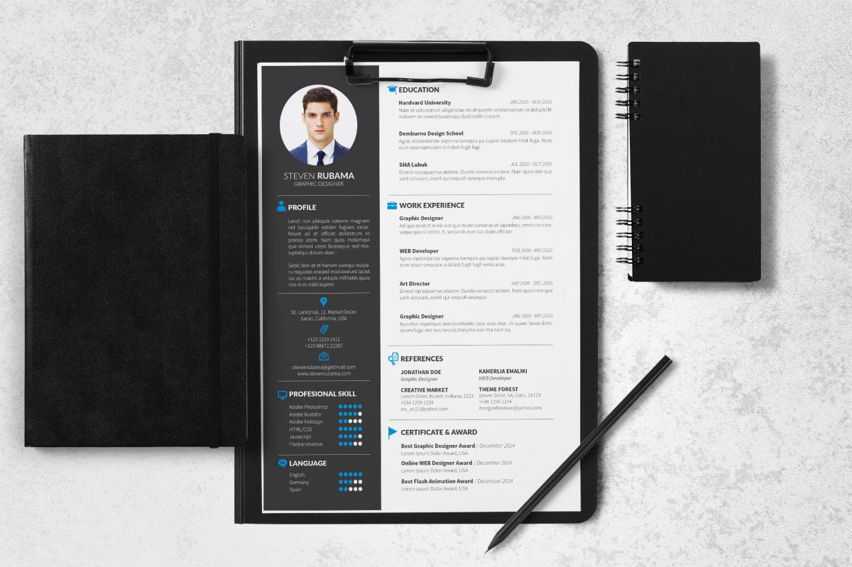 Indesign Resume Templates 15  Resume In Indesign