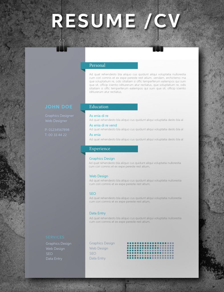 indesign resume templates 16