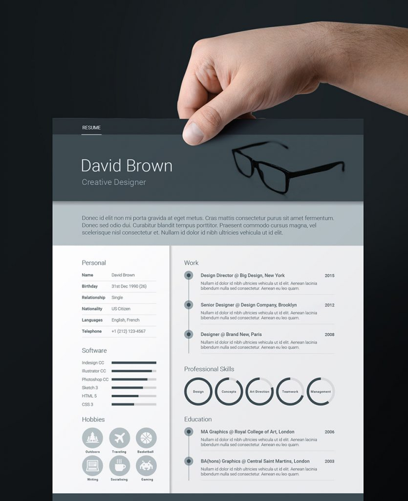 Attractive Indesign Resume Templates 17  Resume Templates Indesign