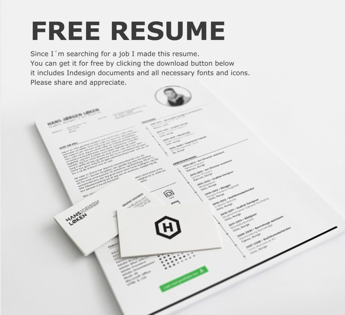 indesign resume templates 19
