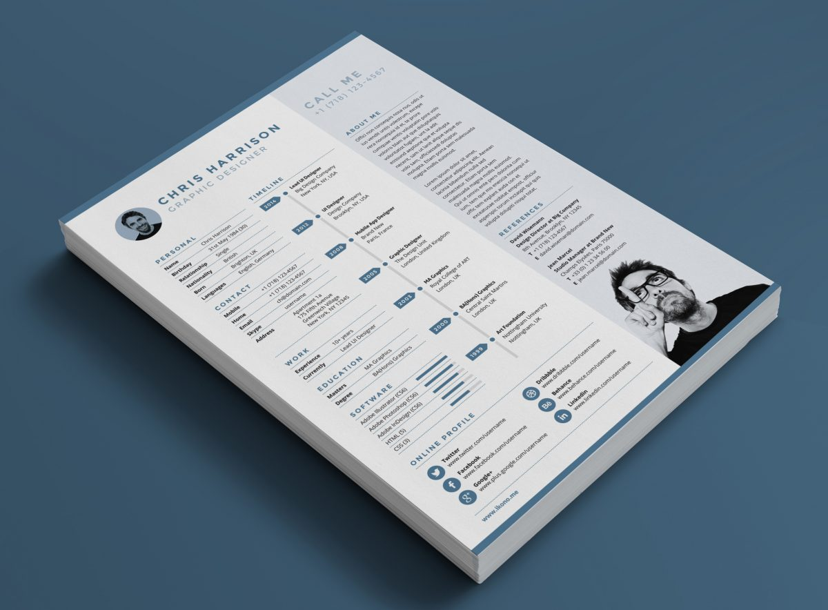 indesign resume templates 2