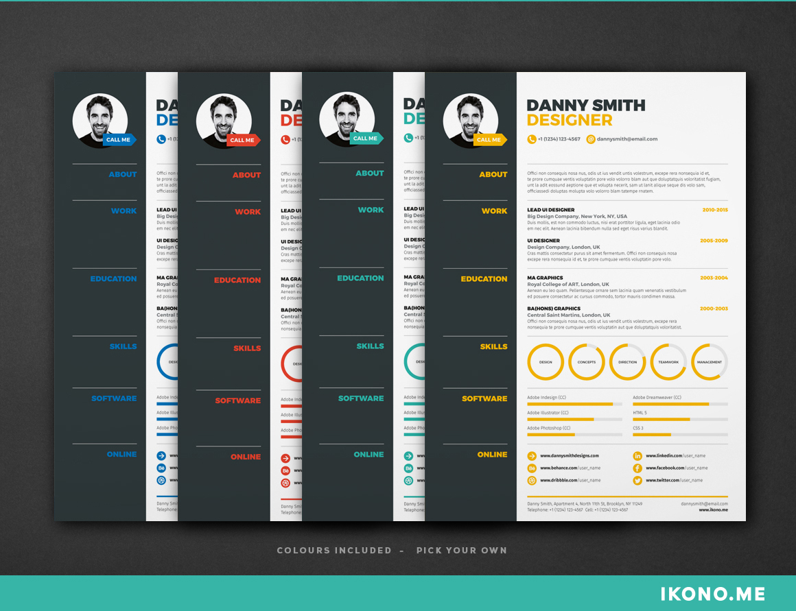 indesign-resume templates 6