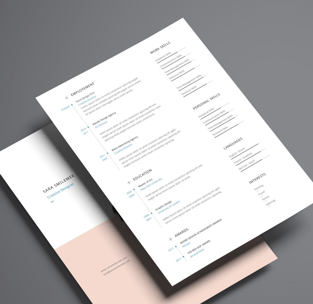 indesign resume templates 8