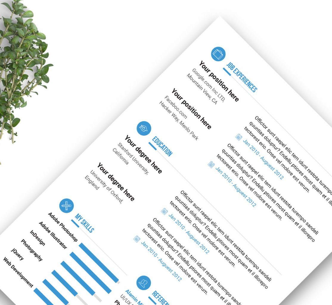 Best Free Indesign Resume Templates Updated