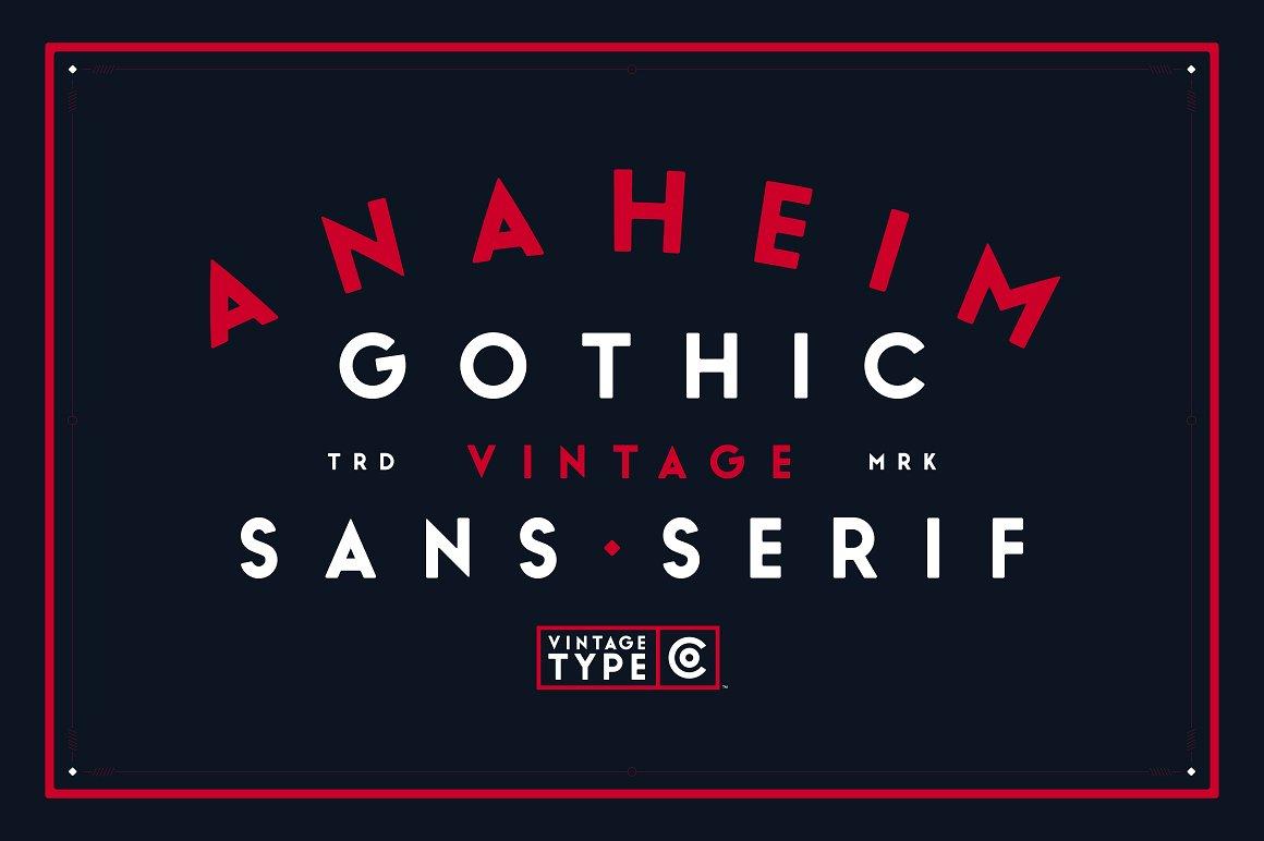 Anaheim Gothic Font