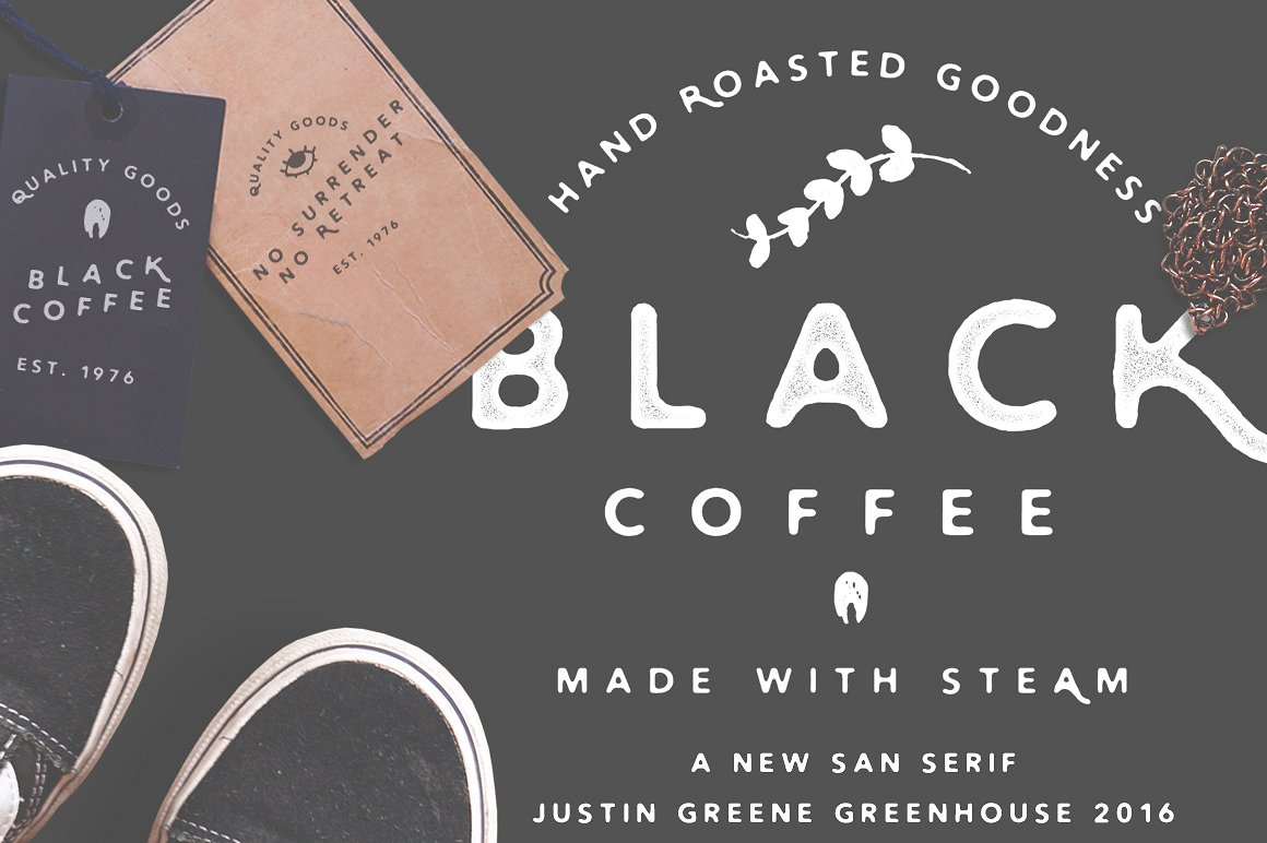 Black Coffee ~ Vintage San Serif