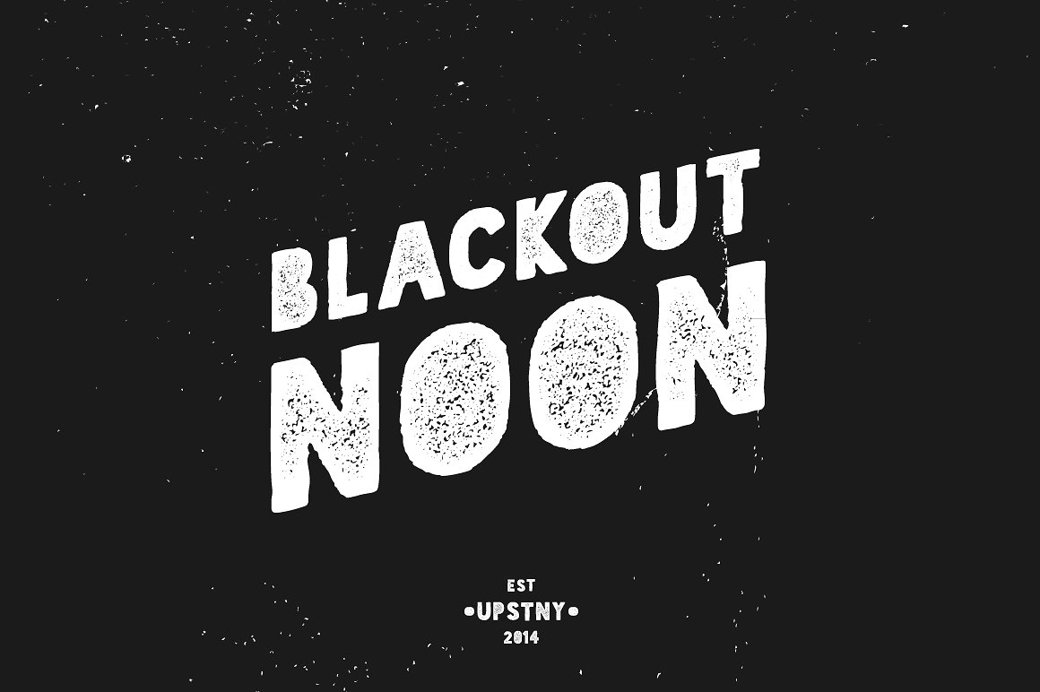 Blackout Noon - Vintage Stencil