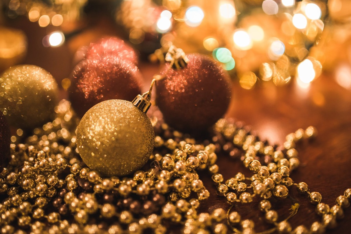 Gold Christmas Balls Decoration