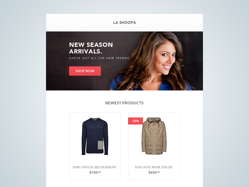 FREE Ecommerce Email Template