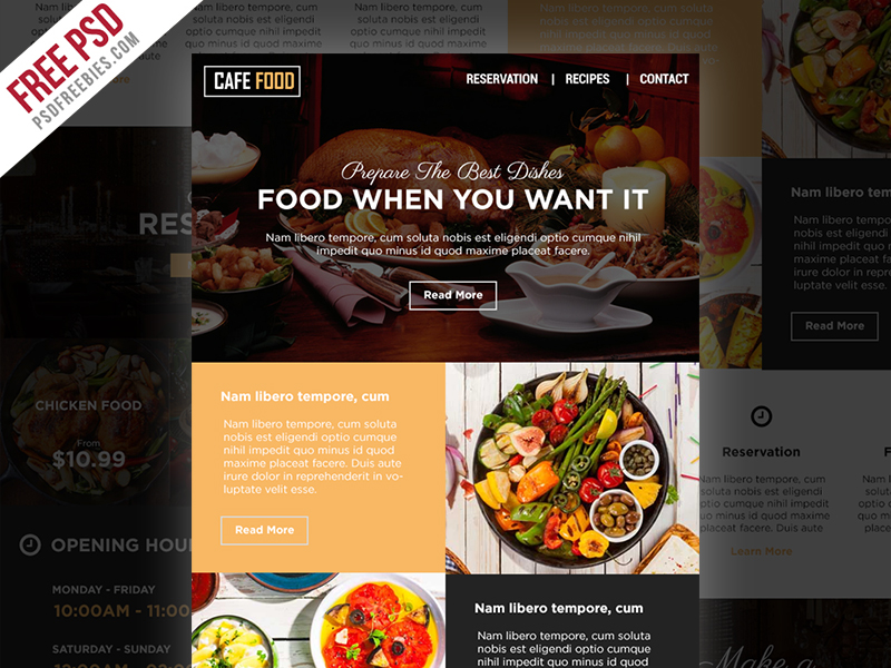 Food And Restaurant E Newsletters