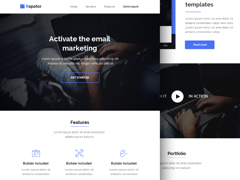 HTML Email Template PSD