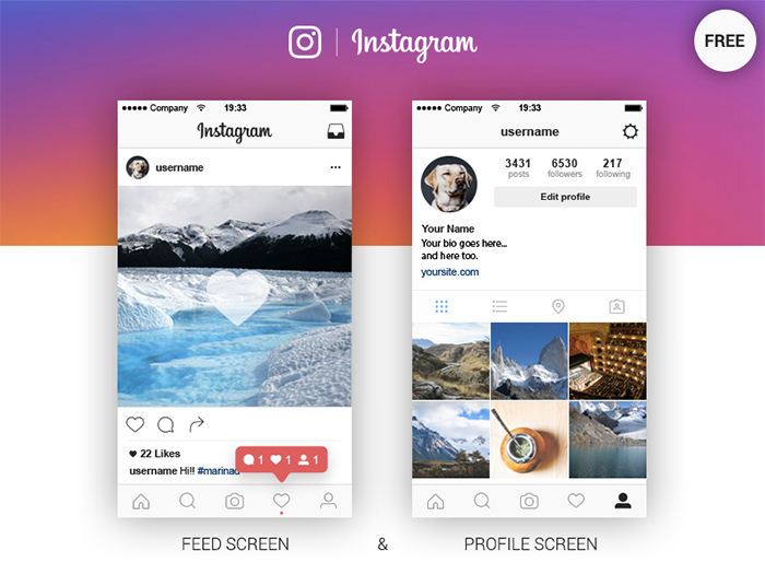 Instagram-Feed-Profile-Screen-Free