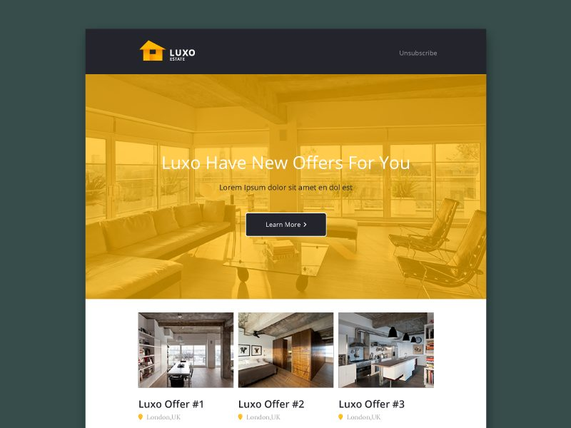 Luxo PSD Email Template