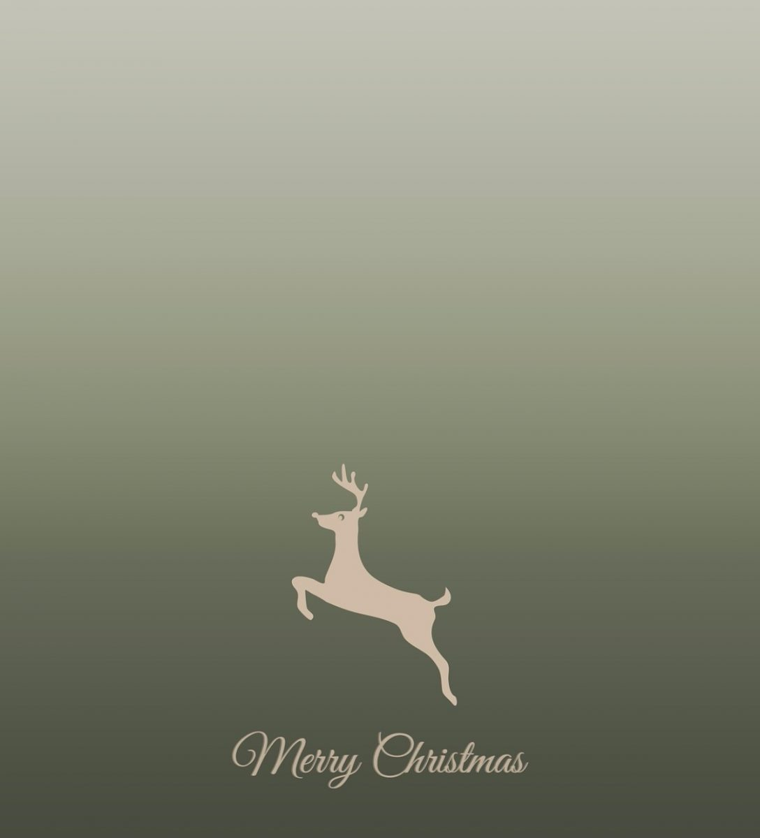 Merry Christmas Jumping Deer