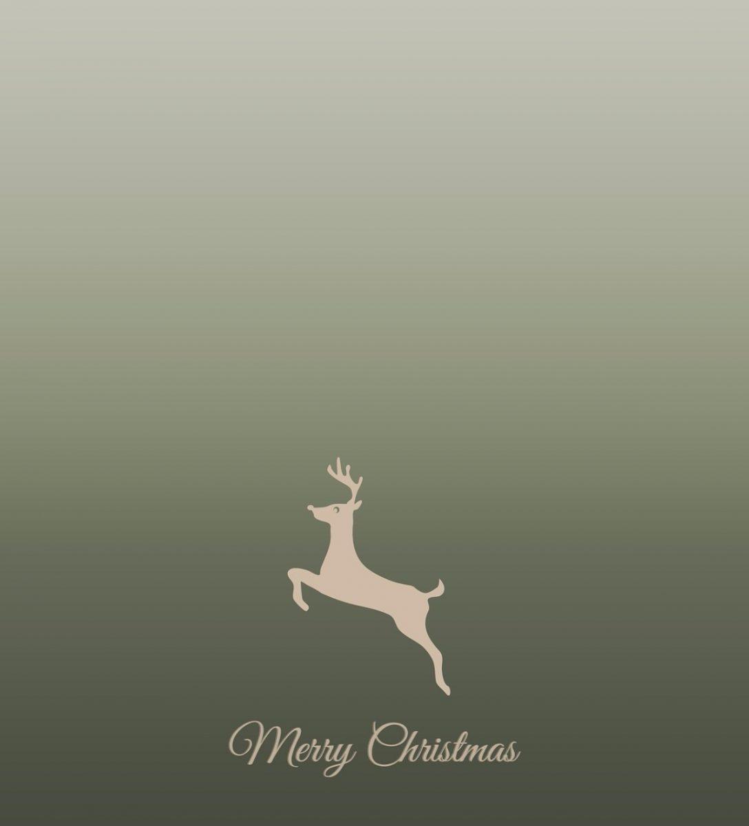 Merry Christmas Jumping Deer