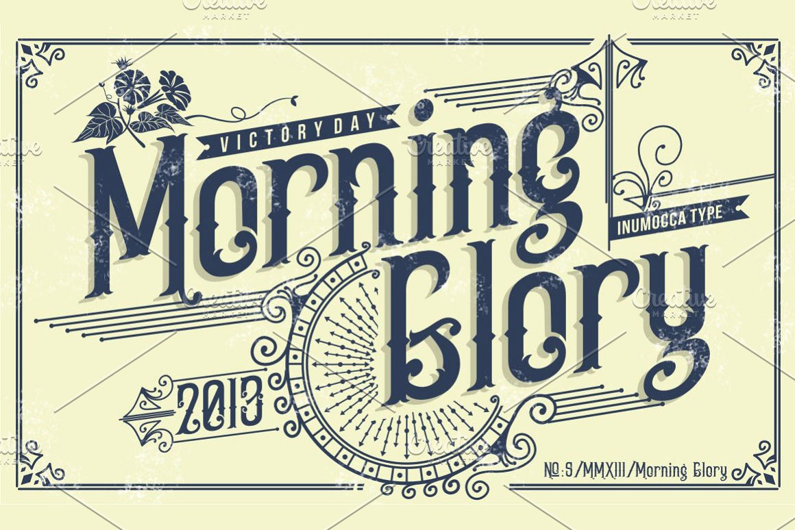 Morning Glory Is A Font That Was Inspired By The Victorian Age And Culture Fashions It Would Great For Band Name Apparel Vintage Classic Things