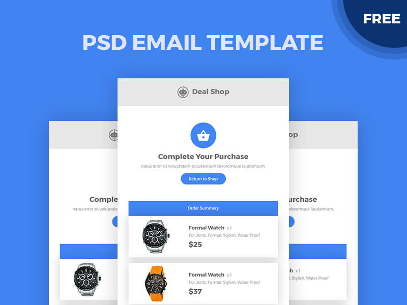 PSD Email Template