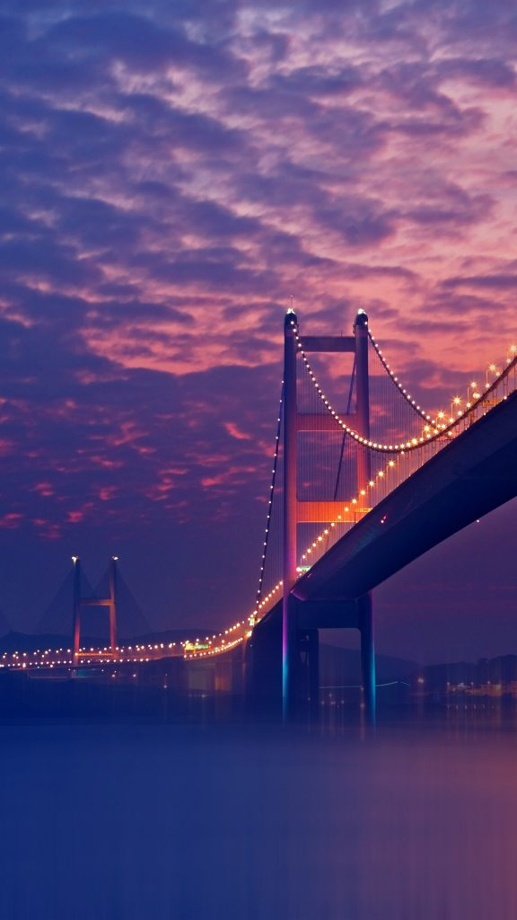 Purple-Night-Bridge-Wallpaper