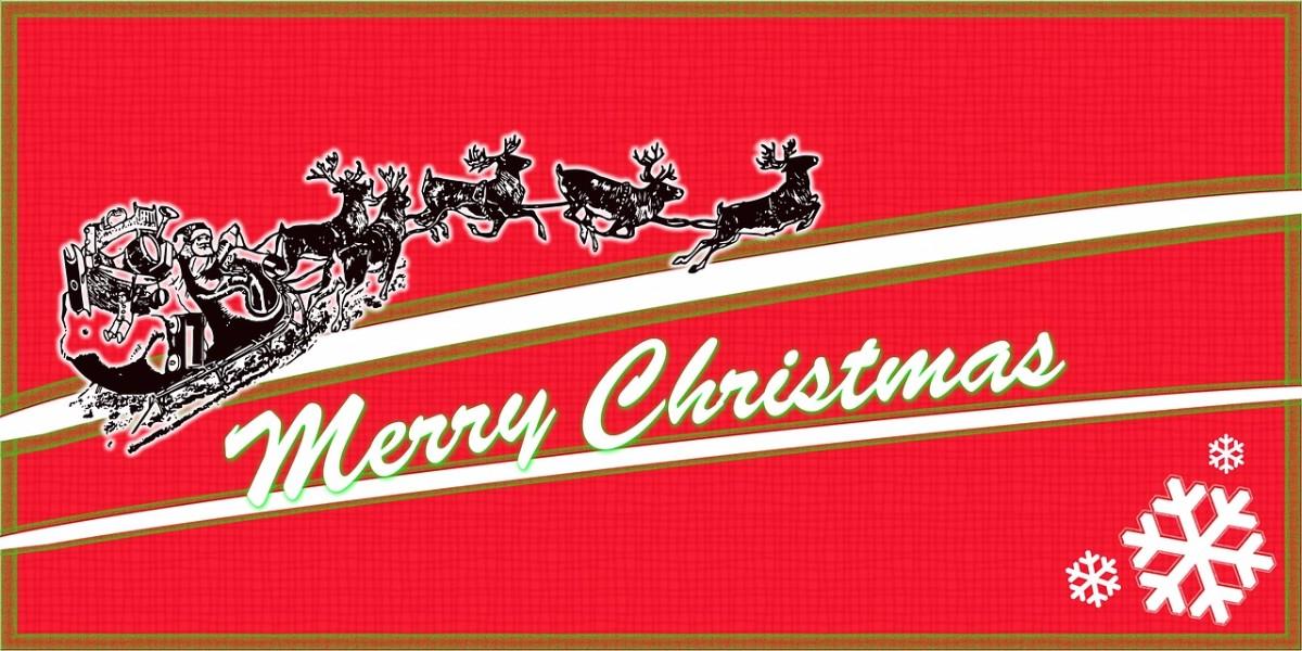 Santa is coming in Christmas