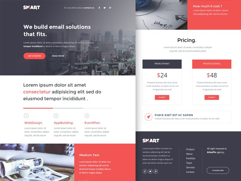 Smart ( Email : Newsletter HTML Template )