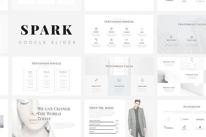 Spark-Minimal-Google-Slides