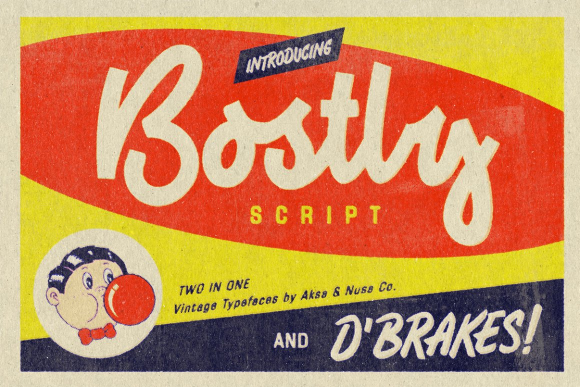 Vintage Fonts Bostly & D'brakes