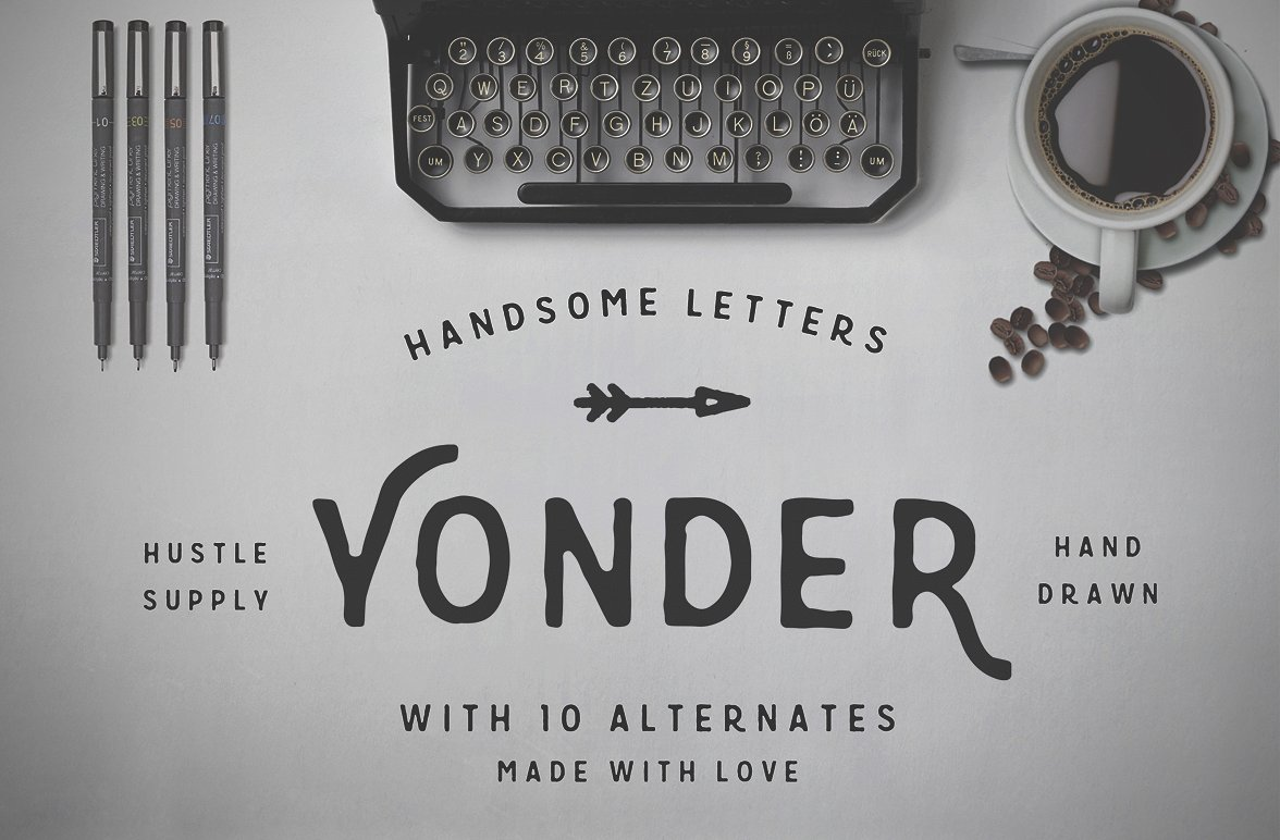Yonder - Hand Drawn Font