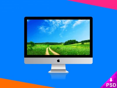 Apple Imac Psd Mockup