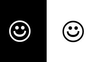 black and white emoji