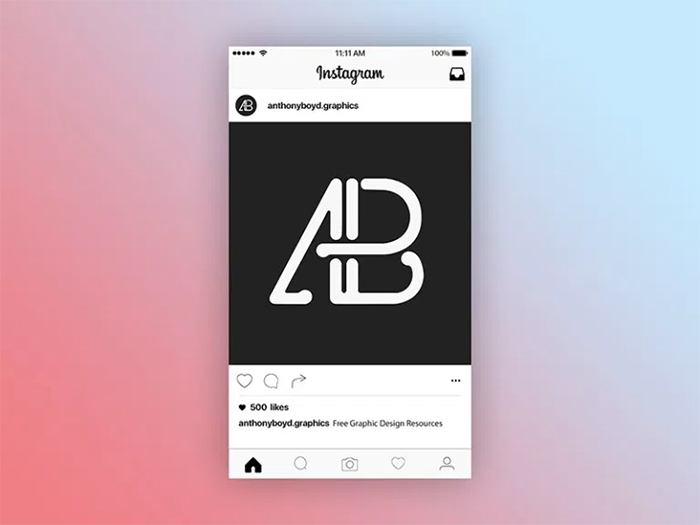 7 instagram post mockup