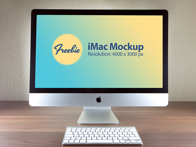 Free Apple iMac Photo Mockup PSD File