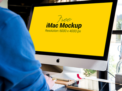 Free Apple Imac Photo Mockup PSD