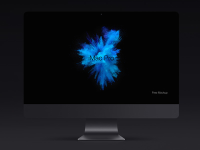 Free iMac Pro Psd Mockup Template