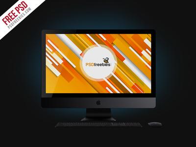 Free PSD Apple iMac Pro Mockup