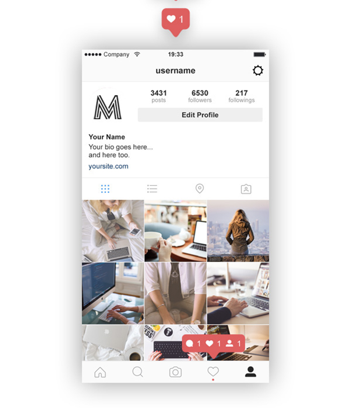 Top 27 Free Psd Instagram Mockup Templates Updated 2018
